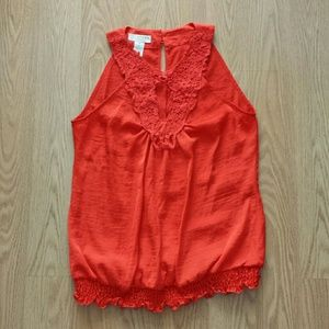 Kenar Tops - Orange Blouse