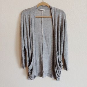 Sweaters - Grey Slouch Cardigan