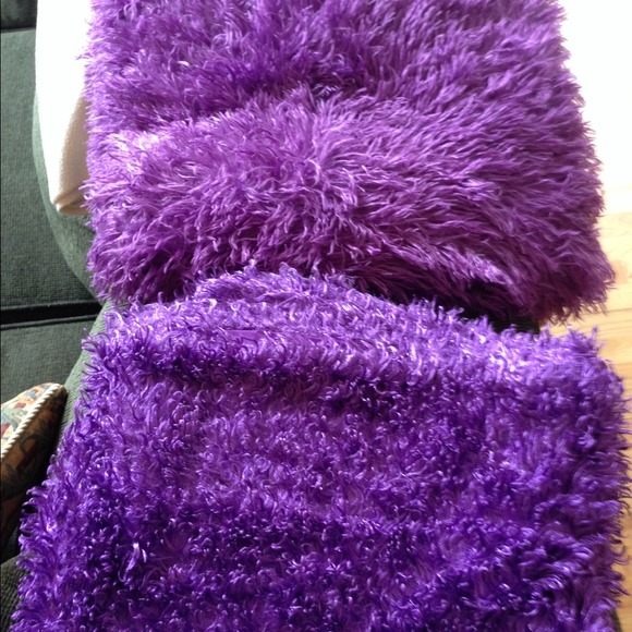 other bundle 2 purple fuzzy blankets poshmark