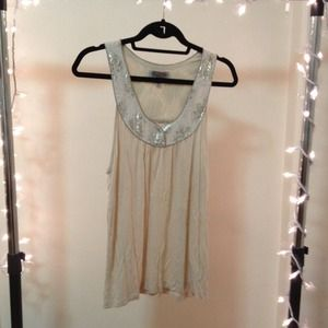 Urban Outfitters gold-lined tank top