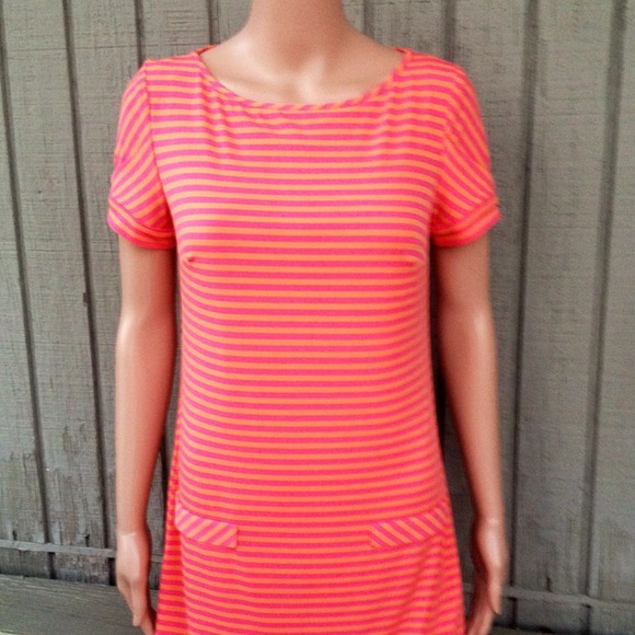 76 off Laundry by Design Dresses Skirts Striped Orange Pink