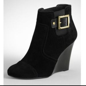 Tory Burch Suede Wedge Bootie  TRADES