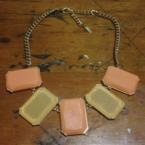 Coral and Peach Statement Necklace