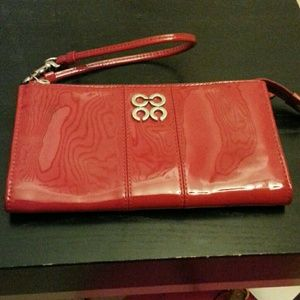 Coach patent leather zippy wallet