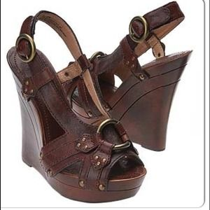 Sold Out! Frye Wedge Sandals