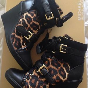 Michael kors skid wedge sneakers