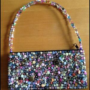 Fun beaded purse!
