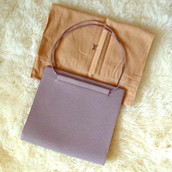 Louis Vuitton Lv Lilac Epi Leather Saint Tropez Shoulder