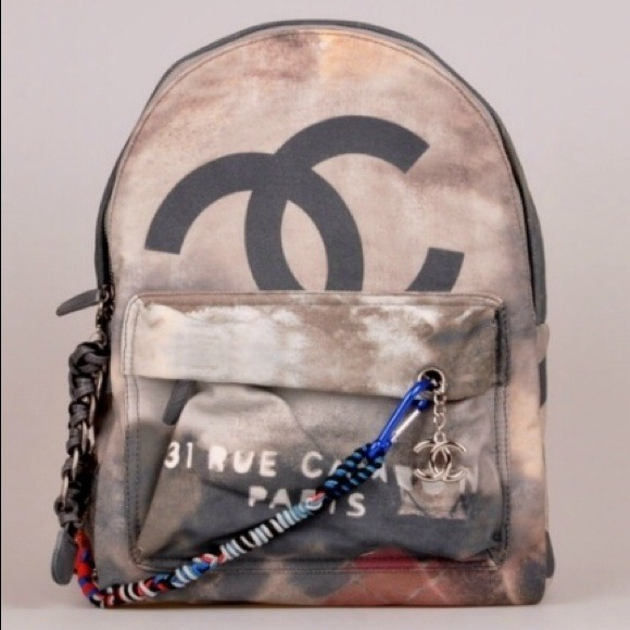 3c8901a334e1 Chanel Inspired Graffiti Printed Backpack. Listing Price: $250.00