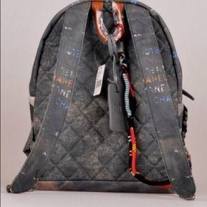 8437b23ef27a Bags | Chanel Inspired Graffiti Printed Backpack | Poshmark