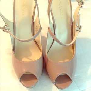 Enzo Angiolini Shoes - Taupe Heels