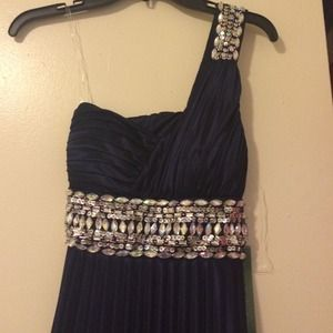 Navy studded dress