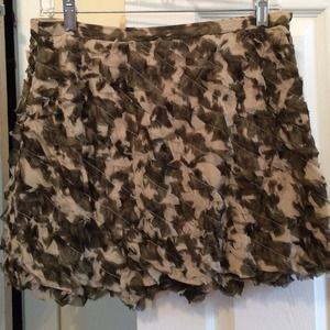 Delicate J.Crew silk ruffled skirt new with tags
