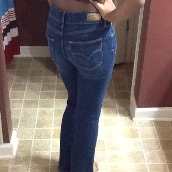Levis high waisted bootcut jeans