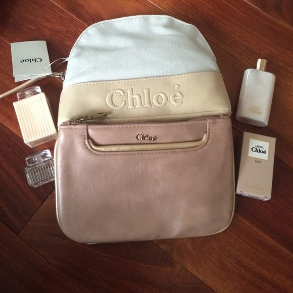 9dd5c61c534a CHLOE make up bags w perfumes and lotions.