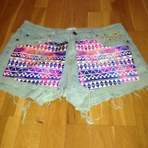 High waisted gold studded levis!