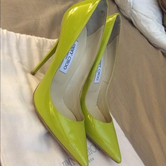 366e13a5cf7 Jimmy Choo Shoes - Jimmy Choo Anouk Lime Green Pumps Sz 38