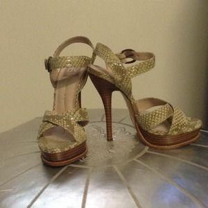 DV Dolce Vita snake skin platform heels