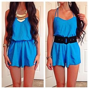 Pants - NEW Blue Romper