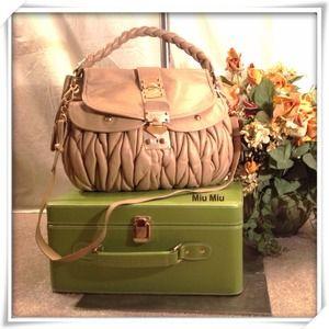 Miu Miu Handbags - Miu Miu Matelasse Nappa
