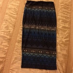 asos Aztec print pencil skirt