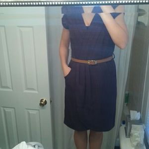 Beautiful dress in eggplant with belt