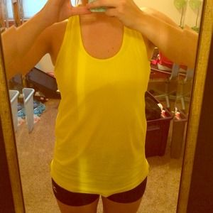 Fabletics Tops - Bright Yellow Work Out Crossback Tank