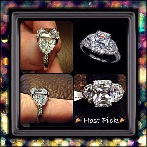 Jewelry - 18k WGP 4.5 CTW Swiss CZ Ring TODAY ONLY