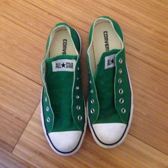 3dd8cfcbea9842 Converse Shoes - Green Converse Without Laces Included