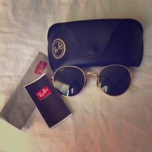 %authentic ray ban rare round sunnies