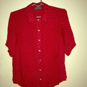 Red Ralph Lauren oversized button down