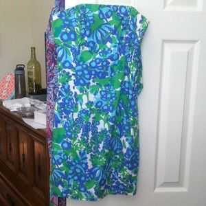 Lilly Pulitzer Strapless Dress!
