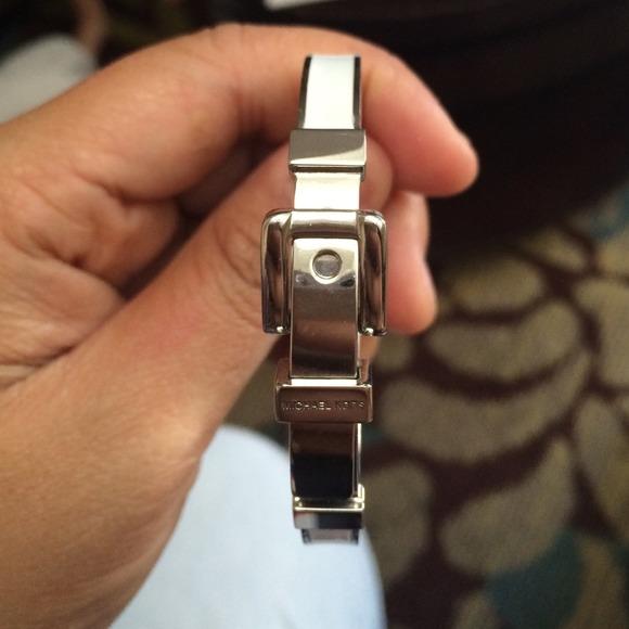 Michael Kors Jewelry Silver Belt Buckle Bracelet White Poshmark
