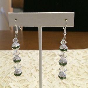 Jewelry - Handmade Swarovski crystal earrings