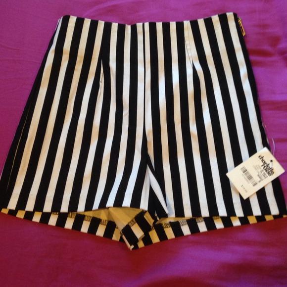 50% off Charlotte Russe Denim - Black/White Striped High Waisted ...
