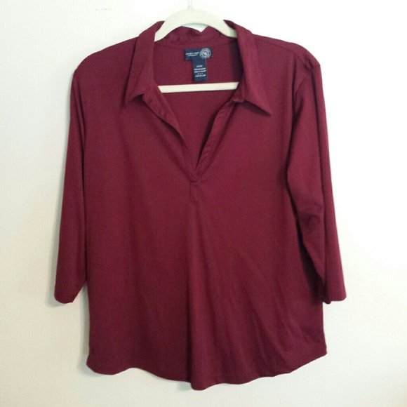 bryant nwot wine colored top from kristin s closet