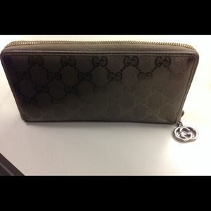 cf056288716 Gucci Bags - Authentic GUCCI olive green imprime wallet