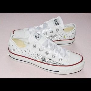 Converse Shoes - Blinged out convers custom made e28207ebf