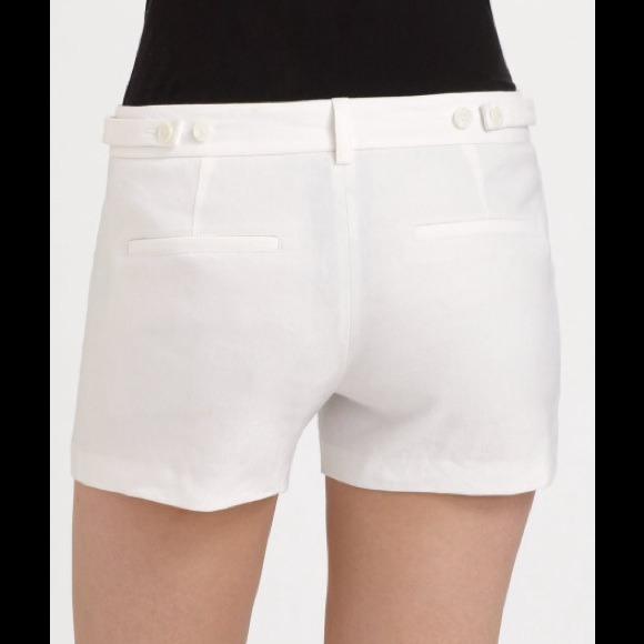 21% off Vince Pants - NEW Vince white Stretch-Linen Trouser Shorts ...