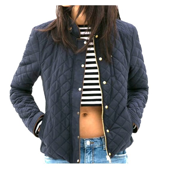 50% off Zara Outerwear - ❄ Zara Contrasting Quilted Jacket in ... : quilted jacket navy - Adamdwight.com