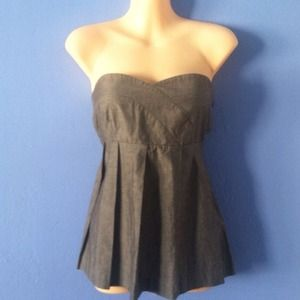 Geren Ford Tops - Geren Ford Strapless Pleated Strapless Top 2 Grey