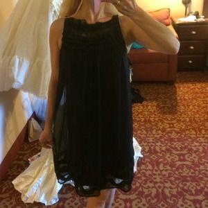 100% silk black MUSE dress