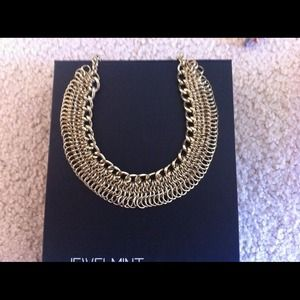 Beautiful Jewel mint gold necklace.
