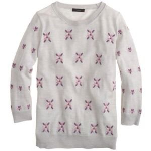 J.Crew Tippi sweater in embroidered flowers