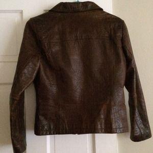 b7404d351 BNWOT crocodile embossed leather jacket