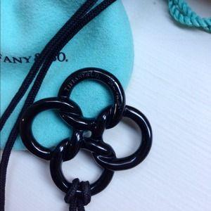 Tiffany & Co. Jewelry - Tiffany Quadrifoglio Black Jade Pendant