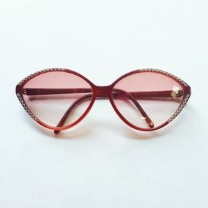 Vintage Balenciaga Red Cat-Eye Sunglasses