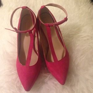 Zara Fuchsia Hot pink wedge