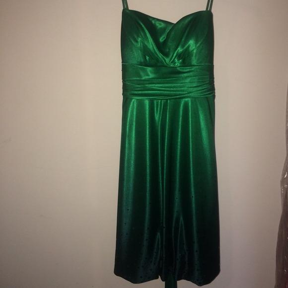 Dresses Knee Length Green Semi Formal Dress Poshmark