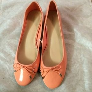 Zara Orange Round Ballerina with Bow size 7.5